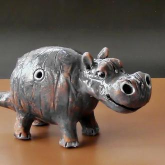 Свистулька бегемот керамика