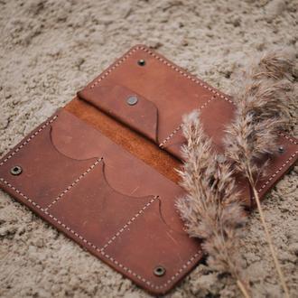 Портмоне Тревел-кейс из натуральной кожи ручной работы