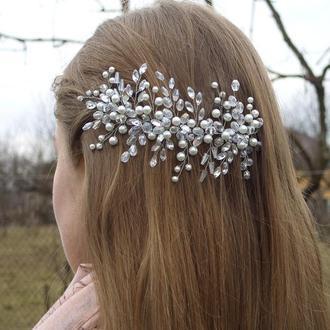 Свадебное украшение для волос, украшение для невесты, украшение для волос, гребень