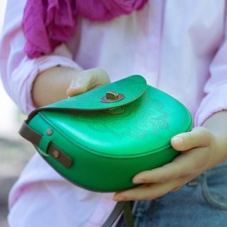 Кожаная сумка  Aura_Indi