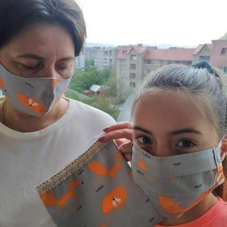Набор из двух зихисних масок и сумки