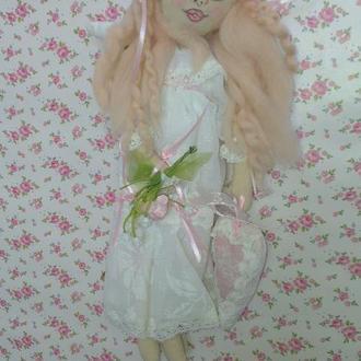 Ангел счастья Софья - текстильная кукла