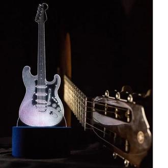 Ночник акриловый Гитара, светильник, лампа, подарок музыканту, ребенку, сувенир, рок, интерьер декор