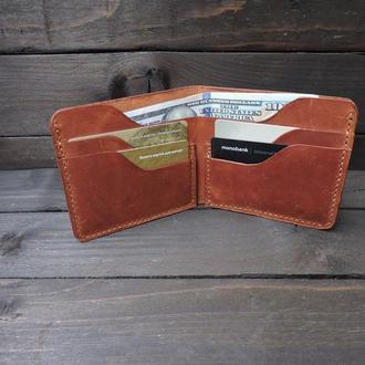 Мужской кожаный кошелек, Тонкий кошелек, Мягкий кожаный кошелек, Простой кошелек