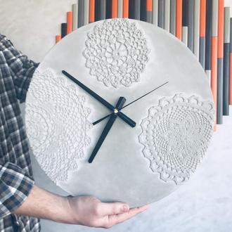 Часы настенные из бетона Женева