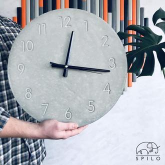 часы бетонные Манхеттен годинник настінний з бетону Манхеттен