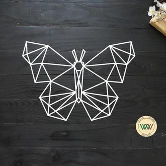 """Настенное панно """"Бабочка"""", геометрия. Полигональная картина из дерева"""