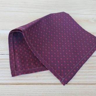 Фиолетовый нагрудный платок Паше в клеточку