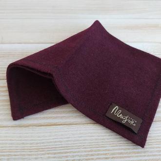 Нагрудный платок Паше вишневый