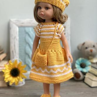 Одежда для куклы Паола Рейна, Вязаное платье для Паолы Рейна 32 см