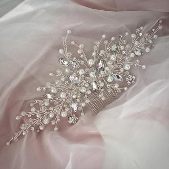 Свадебное украшение для волос, веточка в прическу,украшение в прическу невесте, украшения в прическу