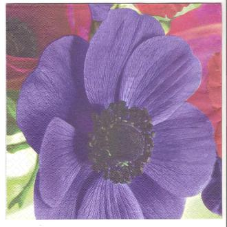 Салфетка трехслойная для декупажа Синий цветок