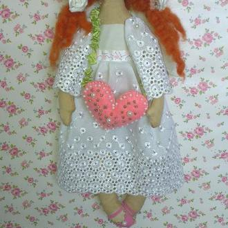 Рыжий ангел - текстильная кукла