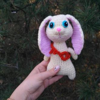 """вязаная игрушка кролик \ зайчик Пушок персонаж из мультфильма """"Тайная жизнь домашних животных"""""""