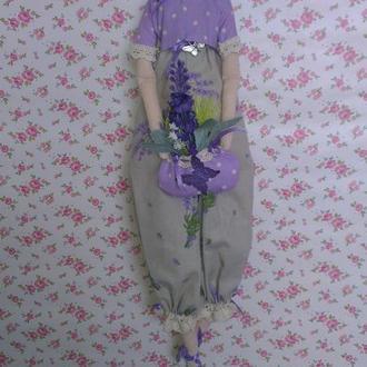 Кукла тильда Лавандовая принцесса