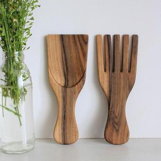 Приборы для перемешивания салата, столовые приборы вилка+лопатка