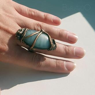 медное кольцо Овал