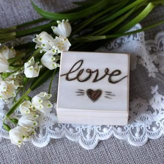 Love коробочка для колец