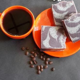 Натуральное мыло с нуля. Малиновый кофе.(скраб ,антицеллюлитное)