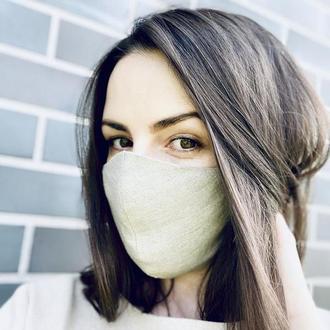 Льняная маска (набор 3 шт)/маски для лица/многоразовые маски