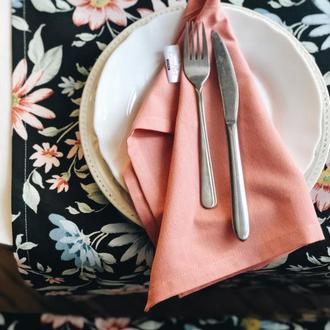 Салфетки кухонные 2 шт кораллового цвета. Салфетка для сервировки 2 шт. Украшение стола.