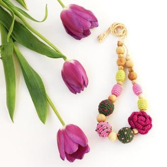 Слингобусы с цветком фиолетовый розовый зеленый оливковый