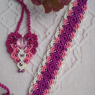 Комплект плетенных украшений нежность