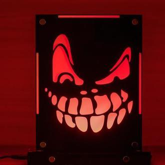 Декоративный ночник Маска Злая ухмылка, теневой светильник, несколько подсветок