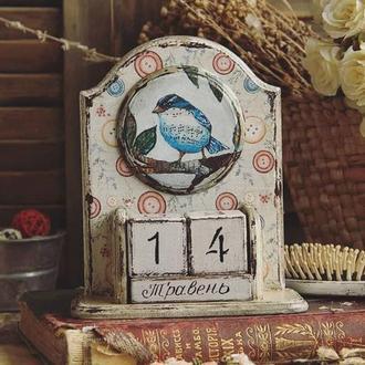 вечный календарь птичка