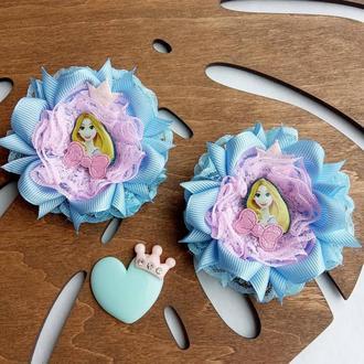 Бантики с принцессой Дисней Рапунцель резинки с принцессами банты для девочек