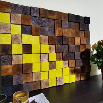 Панно из дерева, эко стиль, дизайн