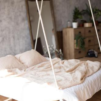 "Постільна білизна з натурального льону ""Пряжене молоко"",лляна постіль,постельное белье из льна,лен"