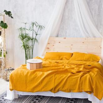 """Постільна білизна з натурального льону """"Шафран"""",льняное постельное белье, постель из льна"""