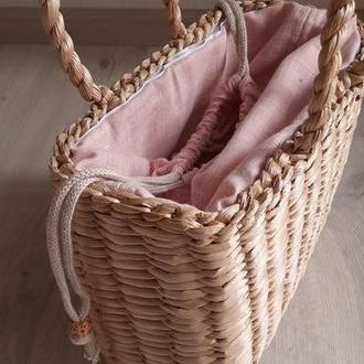 Сумка соломенная со съемной подкладкой Pink & Flower's