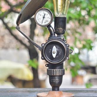 Светильник в стиле лофт с элементами стимпанк