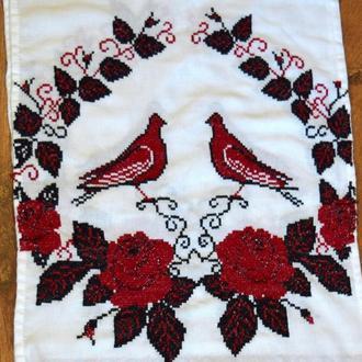 """Свадебный рушник """"Любовь и голуби"""""""