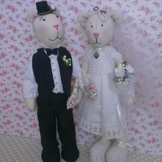 Свадебные мишки тильда