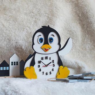 """Часы для детской комнаты """"Пингвин"""""""