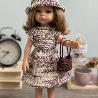 Вязаный набор одежды для куклы Паола Рейна,  Платье Паола Рейна