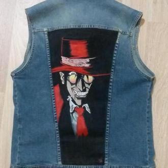 джинсовый жилет алукарт