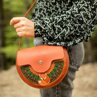 """Женская деревянная сумочка """"Рыжая"""""""