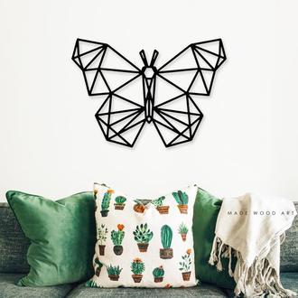 """Деревянная картина """"Geometric butterfly"""""""