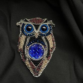 Брошь Owl tie