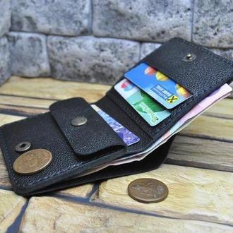 Мужской компактный кошелек K92-black