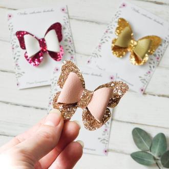 Бантики бабочки для девочки / Заколки - резинки для малышки