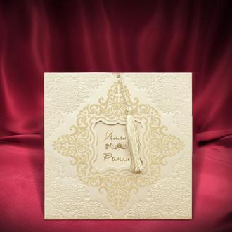Красивые свадебные приглашения цвета айвори (арт. 2789)