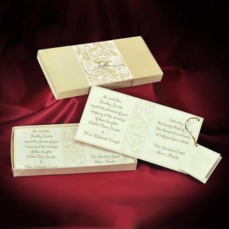 Приглашения в коробочке с бархатным покрытием (арт. 3686)