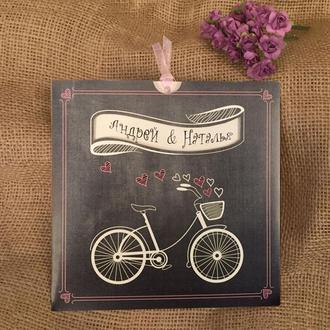 Приглашения с велосипедом в ретро стиле (арт. 41450)