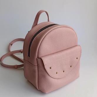 Маленький кожаный рюкзак - сумка