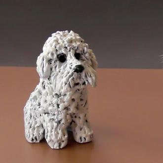 Бишон Статуэтка подарок любителю собак